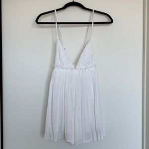 White Babydoll Romper Urban Outfitters